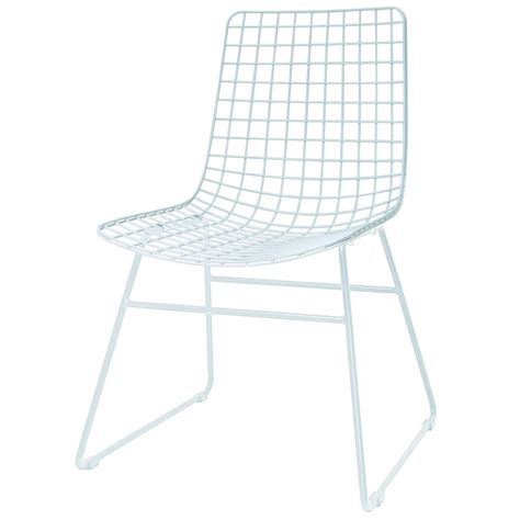 White Metal Chairs by Hk Living Dining Chair Dining Wire White Metal 47x54x86cm