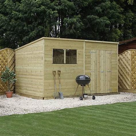 Garden Shed 12x8 by 12 X 8 Pressure Treated Tongue And Groove Pent Shed