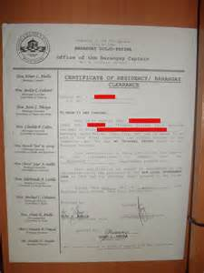 Sample Of Barangay Certification Letter How To Get Barangay Clearance Certificate In The