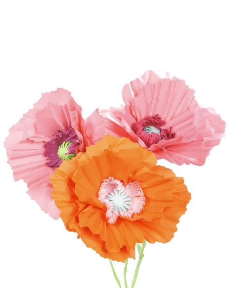 How To Make Paper Poppies - paper poppy flower decorationapplepins