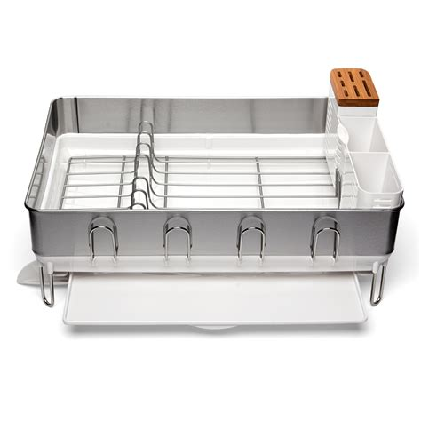 Simplehuman Steel Frame Dish Rack by Simplehuman Steel Frame Deluxe Dish Rack