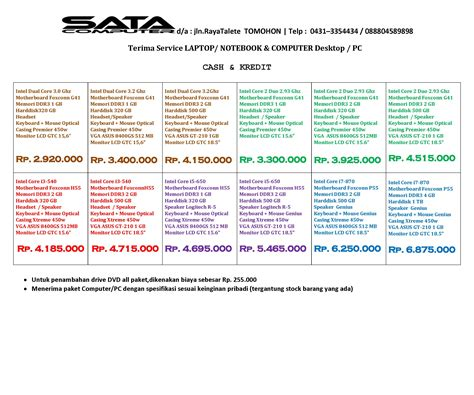 PC (personal computer) Price List Mei 2011   satacomputer