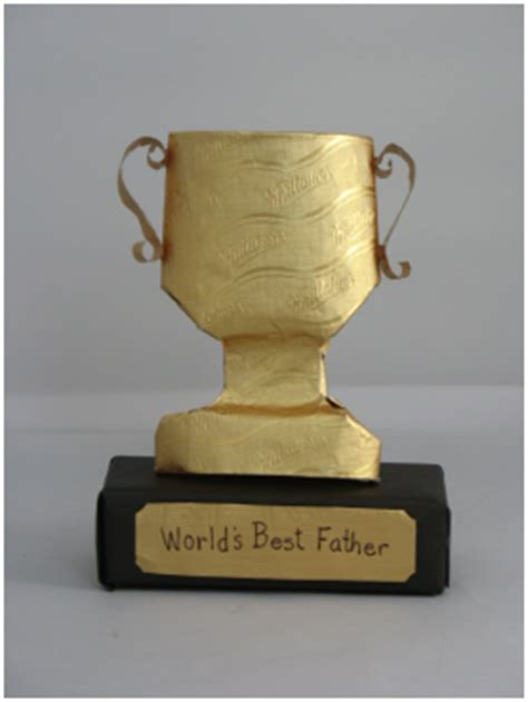 How To Make A Paper Trophy - trophy s day card