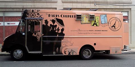 best design food truck paris creperie food truck mobile crepes on la tour eiffel