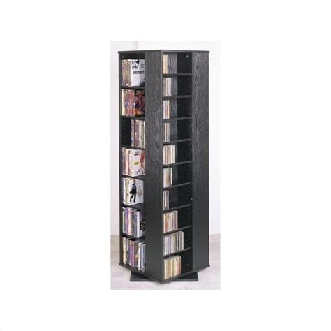 dvd storage tower leslie dame 62 quot cd dvd spinning tower in black media