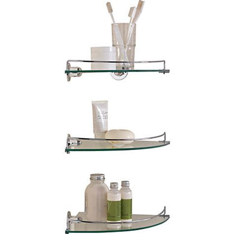 living glass corner shelves pack 3