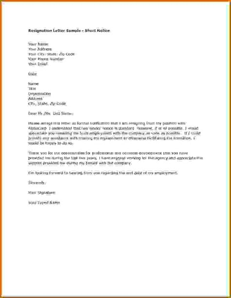 How To Write Resignation Letter Without Notice writing resignation letter to cover letter