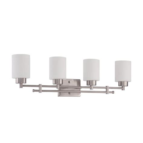 Bathroom Lighting Bright Luminance Ledbury 4 Light Bright Satin Nickel Vanity Light