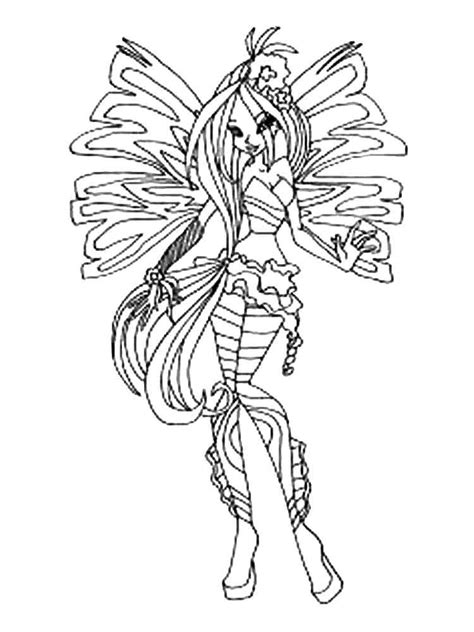 Flora Winx Coloring Pages Download And Print Flora Winx Winx Club Coloring Pages Flora