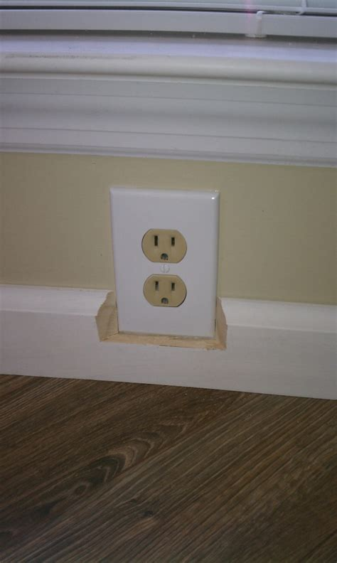 Baseboard Height how can i trim around an electrical outlet home