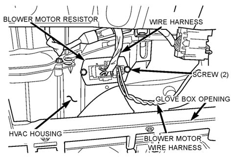 resistor box location 04 town and country blower motor resistor location and