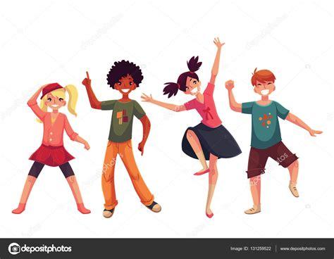 imagenes niños bailando animados ni 241 os peque 241 os bailando expresivamente ilustraci 243 n de