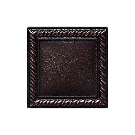 daltile ion metals oil rubbed bronze 2 in x 2 in composite of metal ceramic and polymer rope
