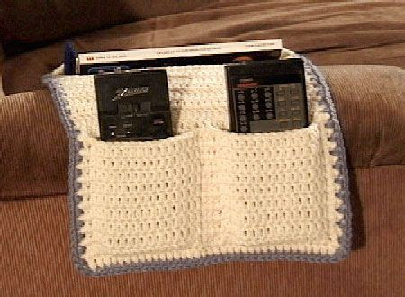 free crochet pattern remote holder armchair tv caddy crochet everything and more