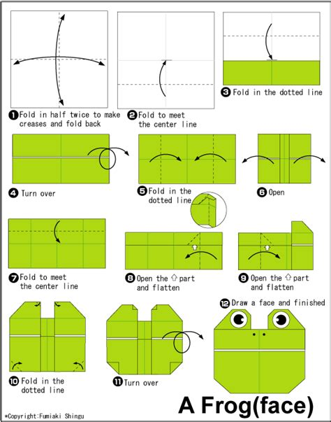 How To Make Frog Using Paper - frog easy origami for