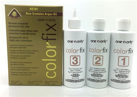 one n only color fix one n only colorfix kit permanent hair color remover