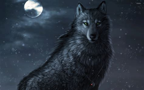 wolf with wolf wallpaper digital wallpapers 46512