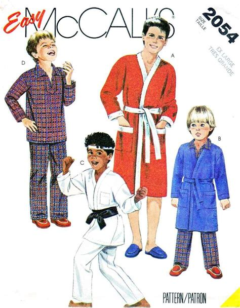 artist costume pattern mccall s sewing pattern 2054 boys size 14 16 easy robe