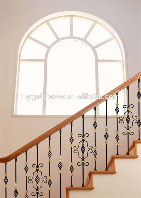 Iron Grill Design For Stairs Yishujia Factory Metal Stairs Grill Design Steel Stair Panels Wrought Iron Balusters Buy