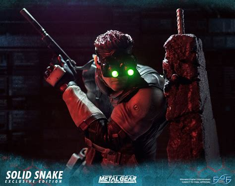 First4figures Mgs Solid Snake Statue 4 Figures Metal Gear Solid Snake Statue 1 4