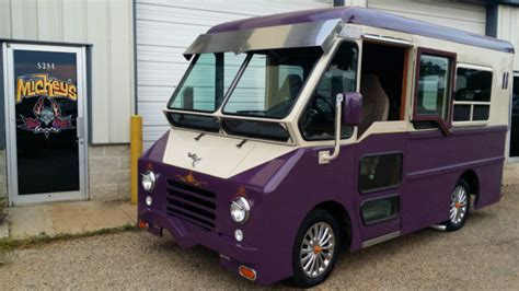custom  dodge p step van camper ice cream truck food truck hot rod