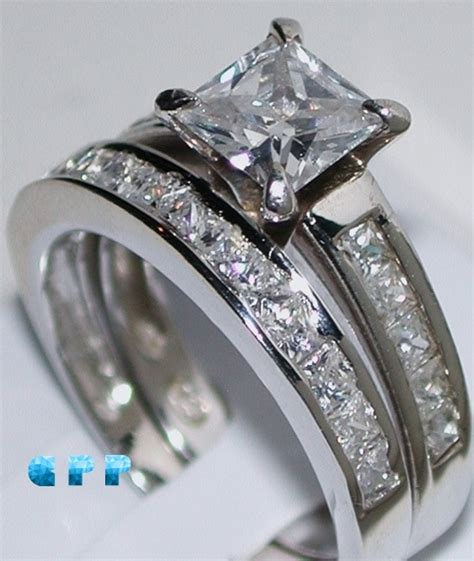High Quality Simulated Engagement Rings by Brilliance 2 Carat Princess Cut Best Quality Nscd