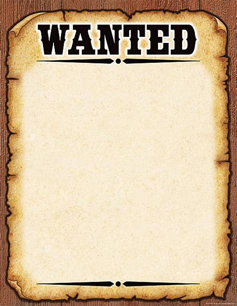 printable wanted poster for classroom western wanted poster chart western pinterest