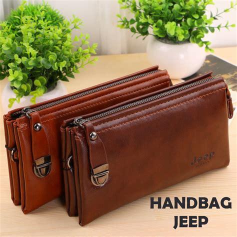 Tas Pria Ba025 Handbag Tas Tangan Pria Kulit Klasik Tas Kantor jual dompet tangan jeep handbag kulit pria wanita tas