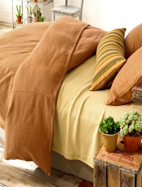 terracotta bed linen 1000 images about bedding on