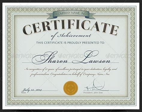 45  Best Certificate & Diploma Templates   PSD EPS AI Download