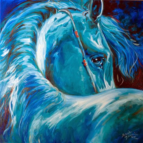 Blauer Engel Farbe by Daily Paintings Originals By Marcia Baldwin