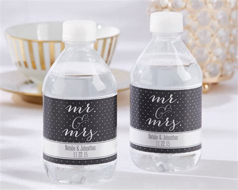 Wedding Favors Water Bottles by Personalized Mr Mrs Water Bottle Labels