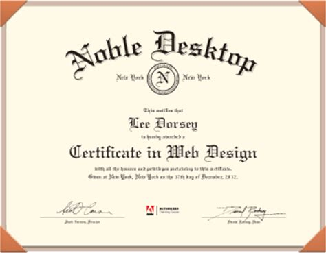 Web Design Certificate New York | certificate in web design new york nyc