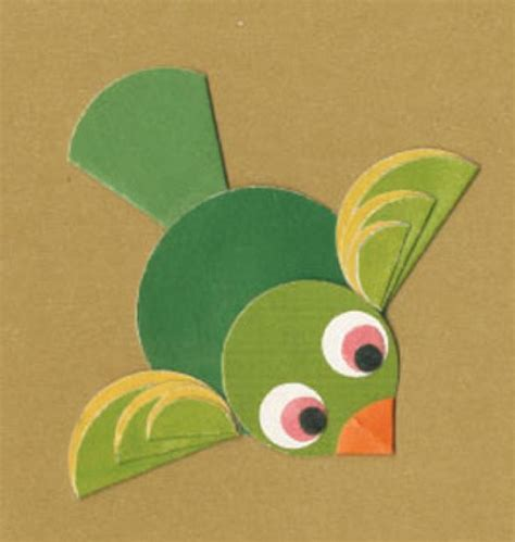 Paper Folding For Kindergarten - paper folding activities for flying bird preschool crafts