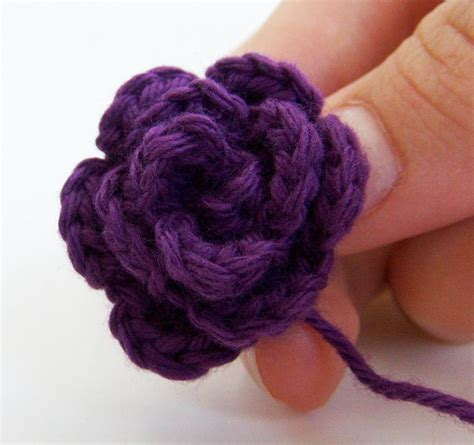 how to knit a rosette small rosette crochet flower free pattern easy going to