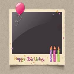 happy birthday photo frame background vector vector