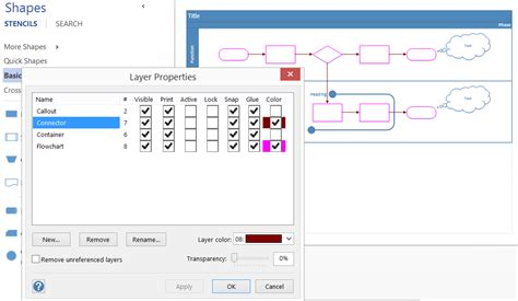 visio color using layers for visibility printing and color in visio 2013