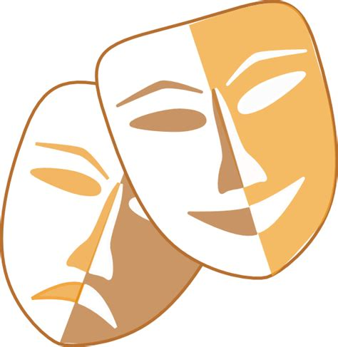 clip comedy comedy and tragedy masks clipart clipart best