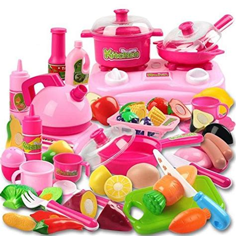 amazon cooking 42 piece kitchen cooking set girls boys fruit vegetable
