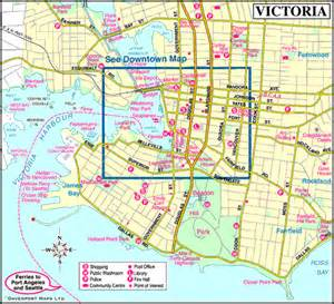 Victoria Canada Map by Victoria British Columbia Canada City Guide