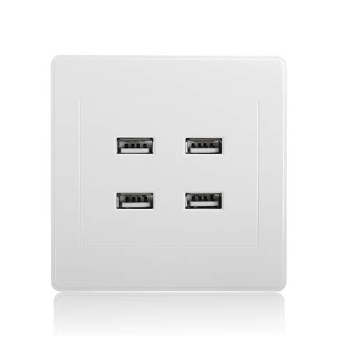 usb outlet wall plate chargers 3 1a ac power wall receptacle socket plate charger outlet