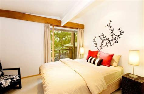vorhänge skandinavisches design schlafzimmer design rustikal