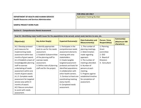 project work plan template best photos of sle work plan format sle work plan