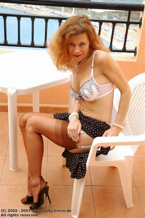 Lady Claire In Brown Stockings Pichunter