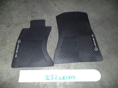 lexus is250 floor mats oem all weather floor mats pair lexus is250 is350 awd