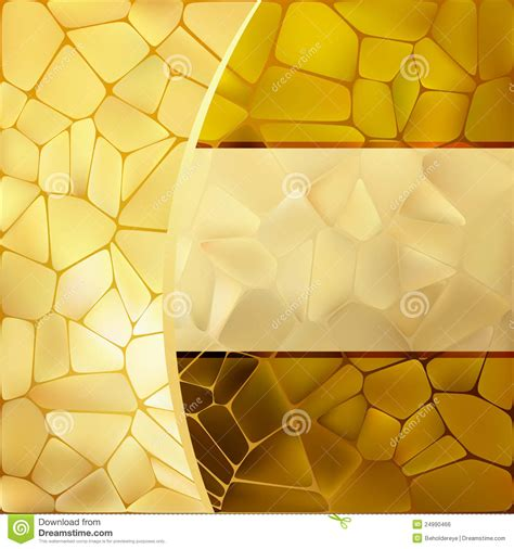 Gold Mosaic Background Template Eps 8 Stock Vector Image 24990466 Background Template Free
