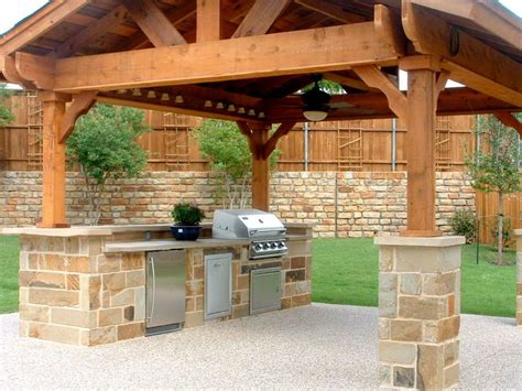 Outdoor Bbq Kitchen Designs Exterior Kitchen Fabulous Outdoor Kitchen Barbeque Design Ideas With Cherry Wood Kitchen Pergola