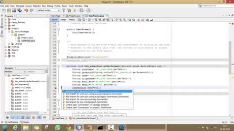 tutorial java web netbeans mysql 2 insert data into mysql through java program using