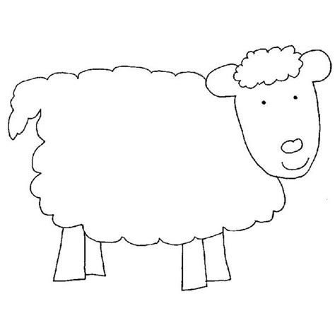 printable sheep template in like a out like a march craft for preschool