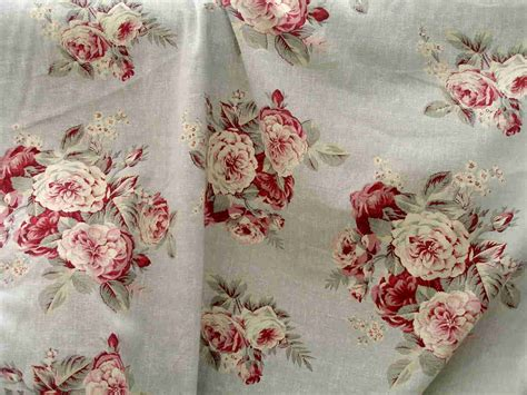 Shabby Chic Upholstery by 2 Yards Shabby Chic Ashwell Manor Linen Roses